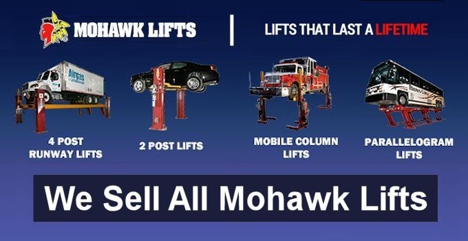 We Sell Mohawk Lifts Exclusively